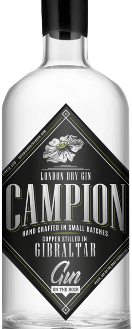 Campion, hand crafted gin in Gibraltar